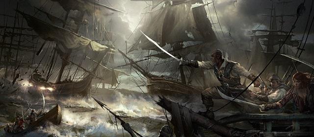 морской бой пиратов