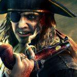 Деревянная нога пирата, крюк и повязка на глаз